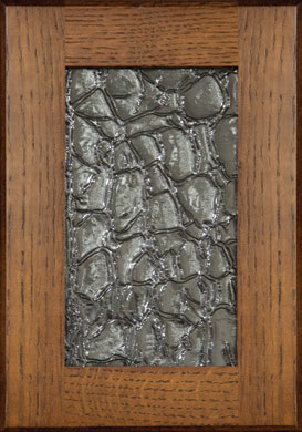 crackle glass door